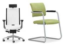Hochwertige Stühle und Sessel fürs Büro, Empfang und und Wartezimmer