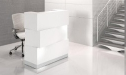 Theke Cube mit Beleuchtung, perfekt als Berater-Theke und für Friseur- und Kosmetik-Salons