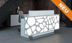 Theke mit LED-Beleuchtung perfekt für Friseursalon und Kosmetikstudio