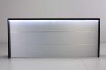 Empfangstheke AS-Line Frontansicht mit LED-Beleuchtung und Dekorstreifen