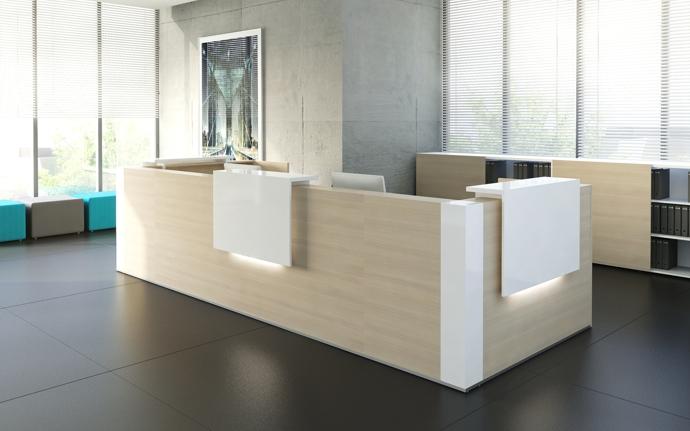 Moderne büromöbel weiss  Empfangstheken und Empfangstresen, Büromöbel, verschiedene ...