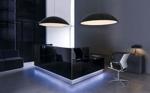 Empfangstheke London in schwarz mit LED-Beleuchtung
