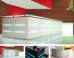 Empfangstheke Serie Maro mit Beleuchtung in vielen verschiedenen Variationen erhältlich