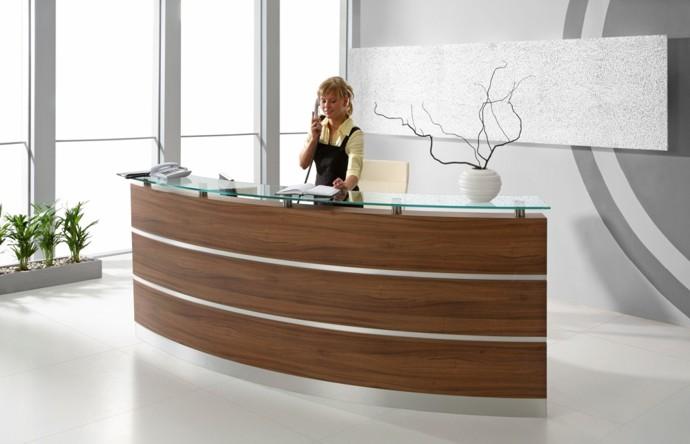 Empfangstheken und empfangstresen b rom bel verschiedene for Schreibtisch 1 50 m