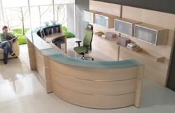 Büroeinrichtung empfang  Empfangstheken und Empfangstresen, Büromöbel, verschiedene ...